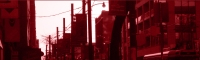 Banner of a city in digital red