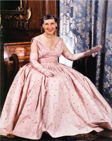 Pink gown worn by First Lady Mamie Eisenhower