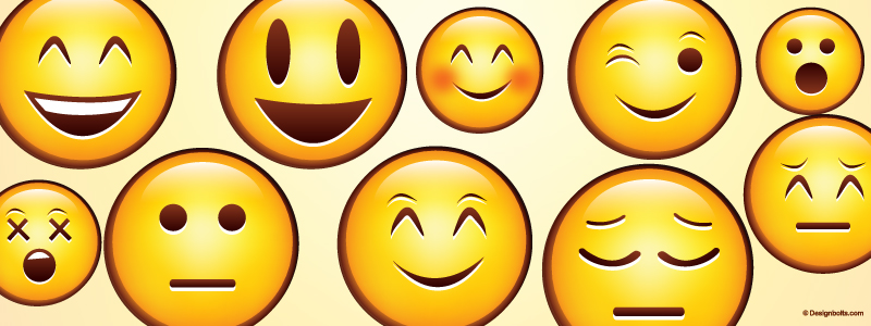 Emojis on a yellow background