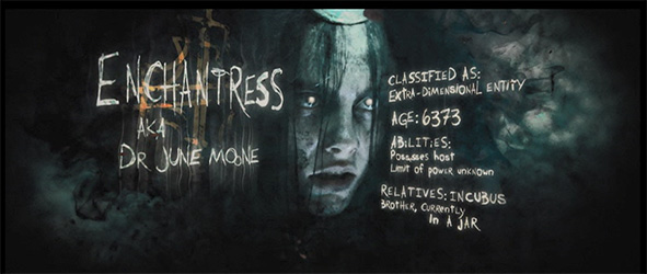 The introduction card for Enchantress