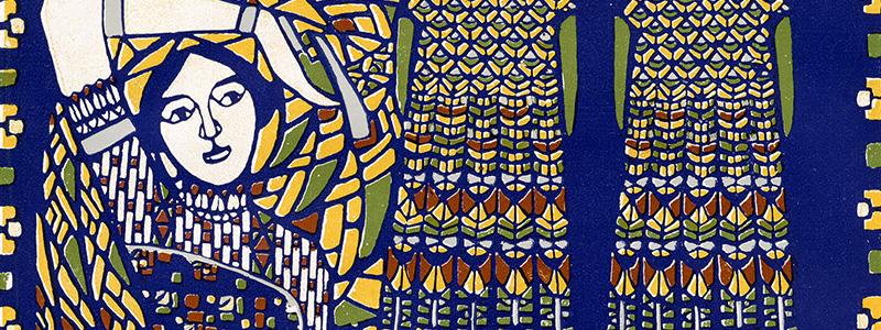 Banner of Reflex Blue 1920's Print