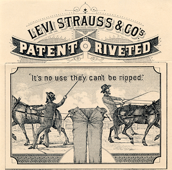 One of Levi's First Ads