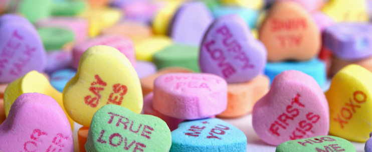 Candy Hearts Banner