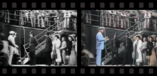 Banner of side-by-side comparisons of Film Colorization with Yankee Doddle Dandy