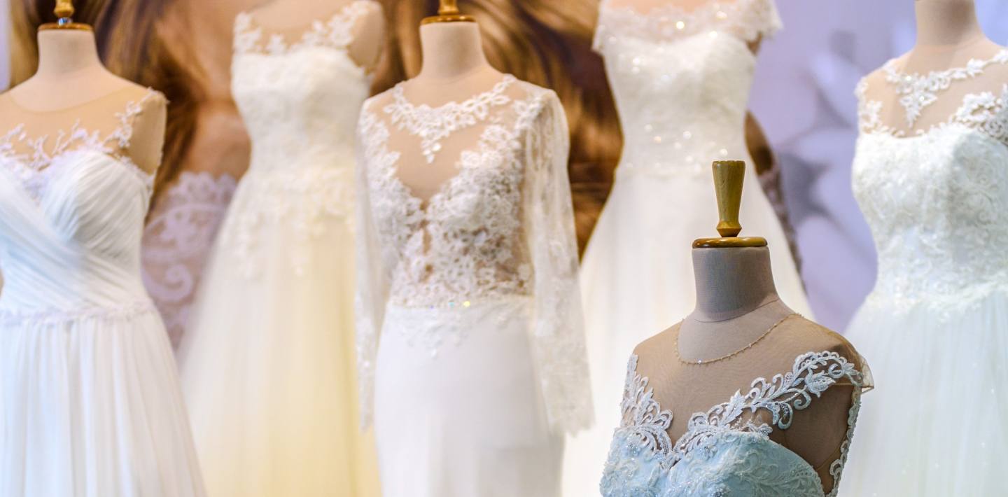 Banner of Wedding Dresses in a store display from Pexels