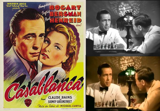 Casablanca movie poster and movie stills