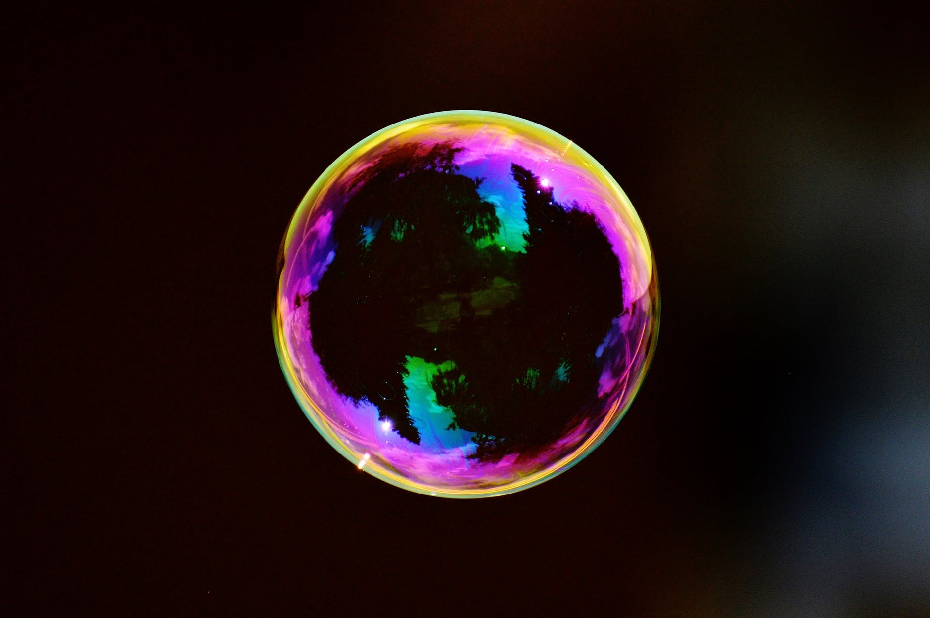 ball black bubble colorful