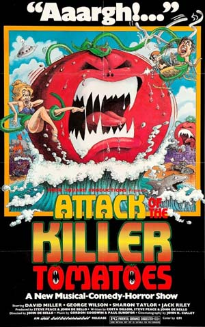 Movie poster of Attack Of The Killer Tomatoes
