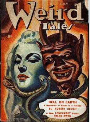 Comic Book Cover of Weird Tales - July 1944 issue