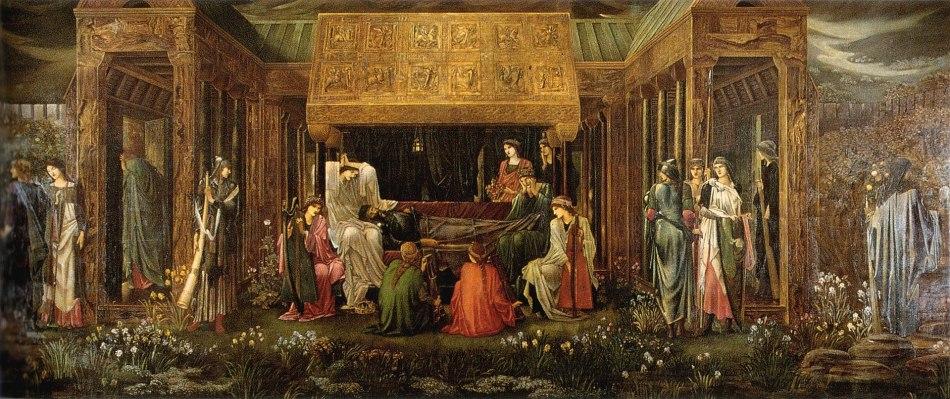 Painting of Edward Burne-Jones, The Last Sleep of Arthur