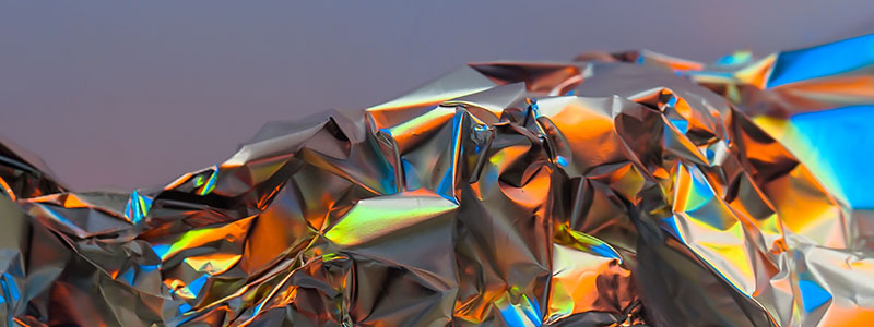 Banner of Iridescent foil photographed
