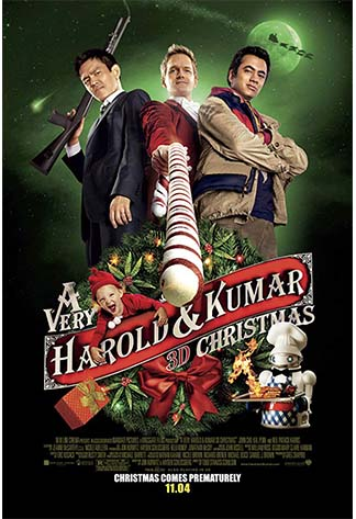 Movie poster of A Very Harold & Kumar 3D Christmas