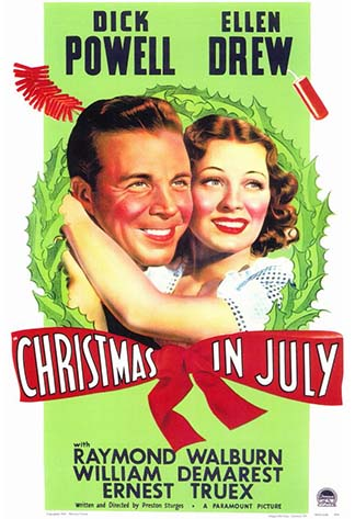 Movie poster for Christmas In July