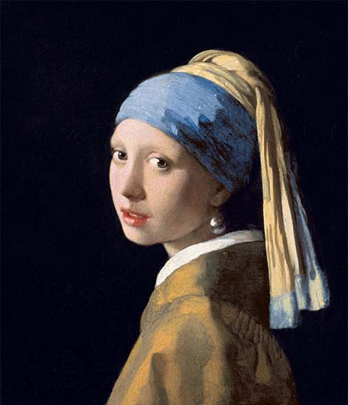 Johannes Vermeer painting of the Girl with a Pearl Earring - 1665. Source Wikipedia.