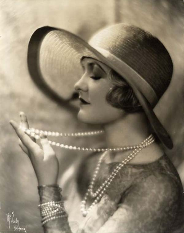 A photo of Lauire La Plante in flapper girl style.