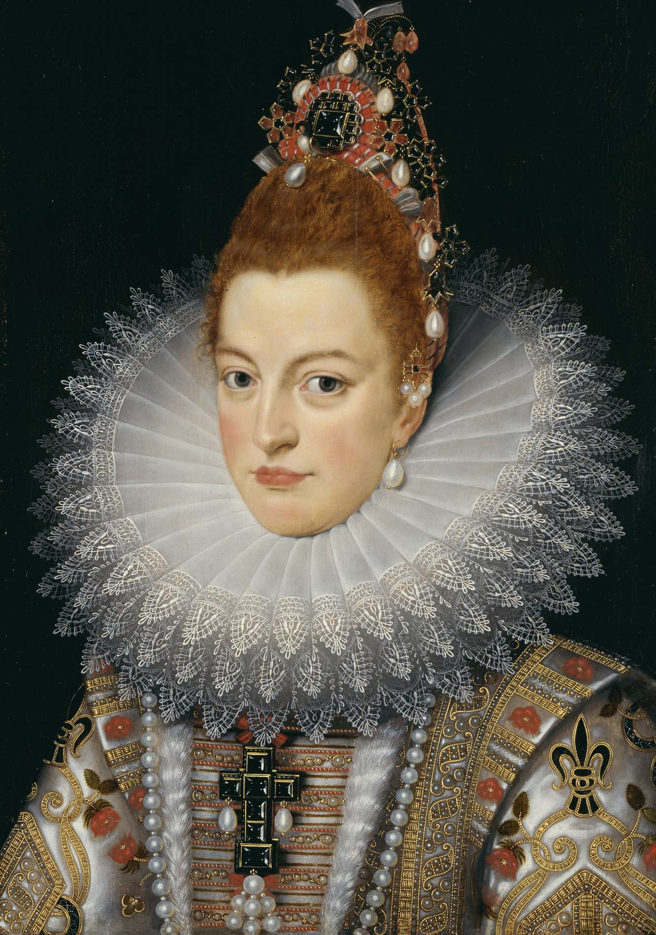 Painting of Isabella Clara Eugenia of Spain - Frans Pourbus II from the 17th Century.