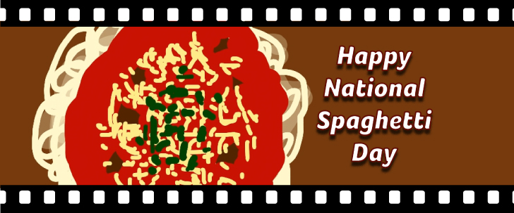 Banner for happy national spaghetti day