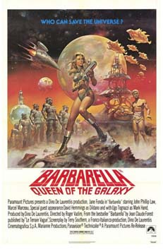 Movie poster of Barbarella: Queen of the Galaxy.