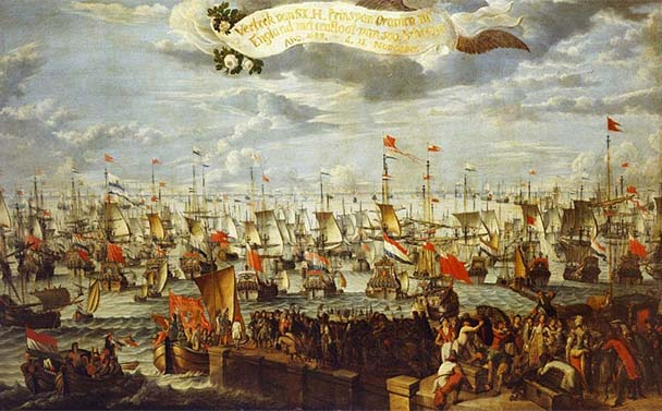 Painting of William of Orange at Helvoetsluis