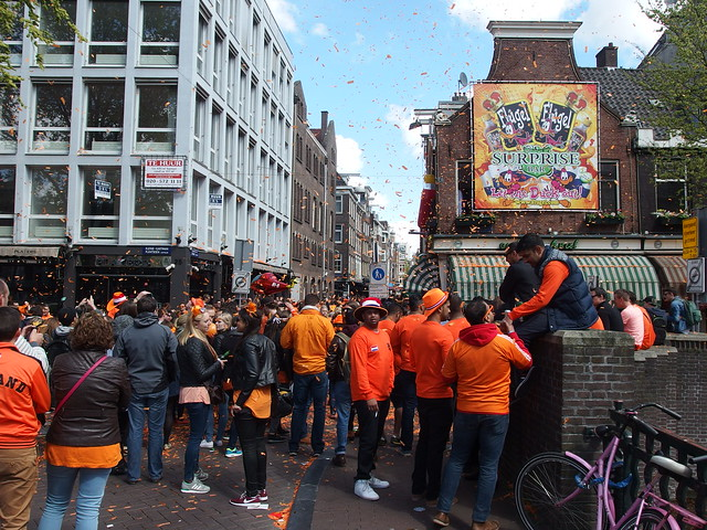 Photo of King's Day at a marketplace
