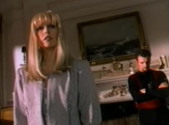 Screen shot of Emma Frost and Banshee