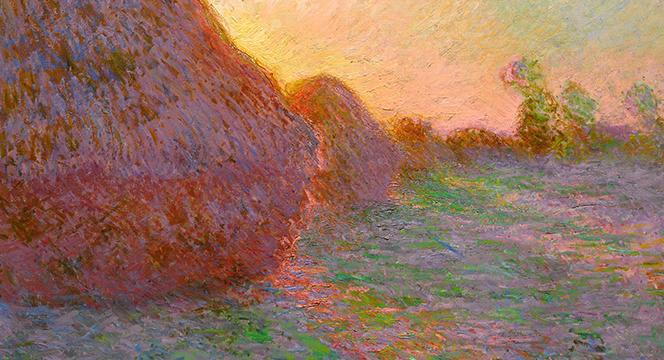 Banner of Monet's Haystack Paintings