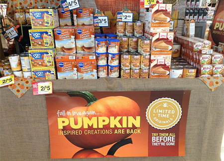 A table of pumpkin spice products. Source: Flickr - Mike Mozart