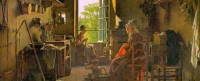 Banner - Painting - Martin Drolling - Interior of a Kitchen