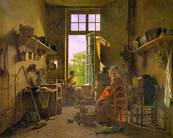 A Painting of Martin Drolling's Interior of a Kitchen (1815)