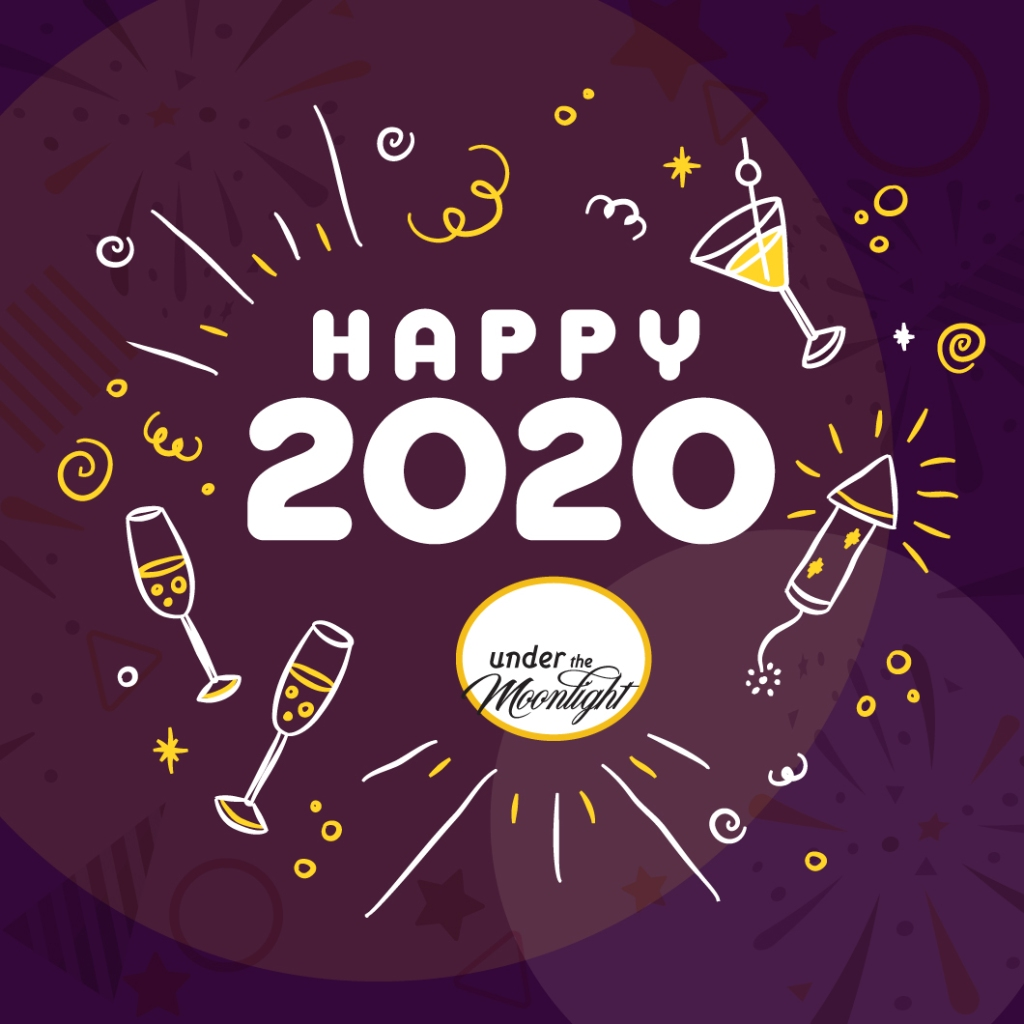 Happy 2020 with party favours