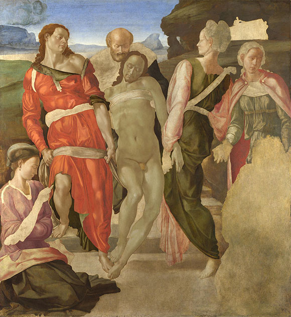 Painting of The Entombment (1500 - 1501) by Michelangelo