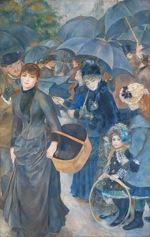 Painting of The Umbrellas by Pierre-Auguste Renoir 1881-1886