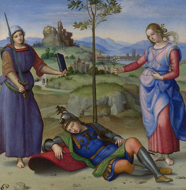 Painting of Raphael, An Allegory Vision Of A Knight, c. 1504