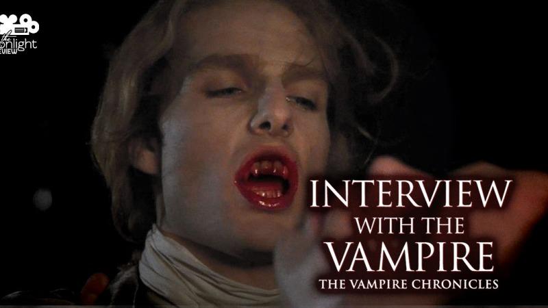 Lestat drinking Louis' blood.