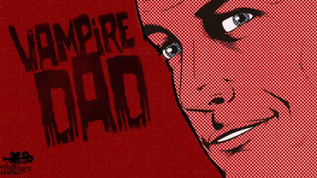 A comic book illustration of the vampire dad.